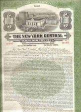 Buy New York New York City Stock Certificate Company: New York Central Railroa~108