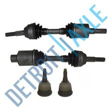 Buy 4 pc Set - Front Driver and Passenger CV Axle Shaft + 2 Lower Ball Joint No ABS