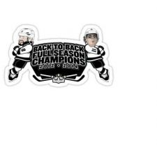 Buy 2014 STANLEY CUP Champions Decal Sticker NHL back TO BACK Doughty Kopitar