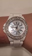 Buy Bongo Brand White Women's Watch w/ Australian Crystal Accents