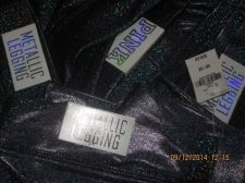Buy Victoria's Secret PINK Metallic Legging Holographic Black & Blue L NWT $39.50
