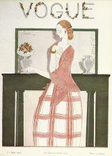 Buy Vogue 1923 Cover Print Mantelpiece Vases by Lepape Art Deco 1984 original print