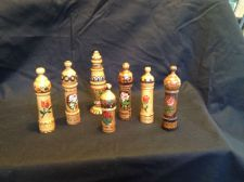 Buy Collection of Antique Wood Snuff Perfume Bottle Bulgaria ca 1950