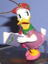 Buy Disney Daisy Duck caroling with song book ornament