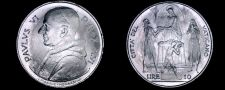 Buy 1968 Vatican City 10 Lire World Coin - Catholic Church Italy