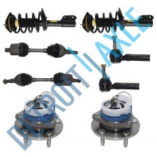 Buy 2 NEW Front Hubs+Ready Struts+Outer Tie Rods+Front Axles - 2000-2009 Impala