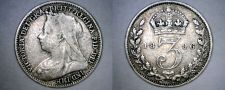 Buy 1896 Great Britain 3 Pence World Silver Coin - UK