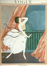 Buy Vogue 1921 Cover Print Storm Lady Fashion Dress Art Deco 1984 original print