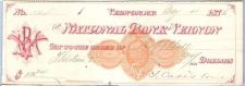 Buy New York Vernon Cancelled Check National Bank of Vernon Check #560 Dated: ~24