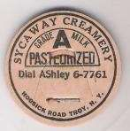 Buy New York Troy Milk Bottle Cap Name/Subject: Sycaway Creamery Grade A Milk~272