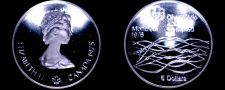 Buy 1975 Canadian Proof Silver 5 Dollar World Coin - Canada 1976 Montreal Olympics