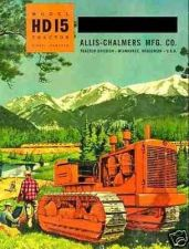 Buy ALLIS CHALMERS HD15 TRACTOR MANUAL - with AC HD 15 Crawler Operations & Service