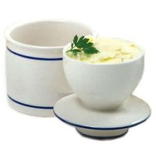 Buy French Stoneware Butter Keeper Buttercup Bell Crock Cup Dishes Storage White
