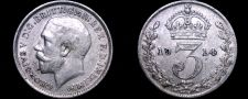Buy 1914 Great Britain 3 Pence World Silver Coin - UK