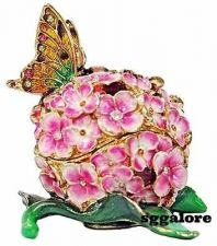 Buy New RUCINNI Swarovski Crystals BeJeweled BUTTERFLY Floral Trinket Jewelry BOX