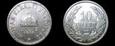 Buy 1894-KB Hungarian 10 Filler World Coin - Hungary