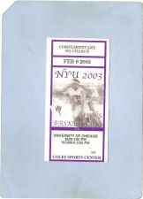 Buy Illinois Chigago Sport Basketball Admission Ticket Feb 9 2003 NYU vs Unive~286