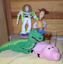 Buy Toy Story 1 Buzz, Woody, Ham & Rex 4 Puppets