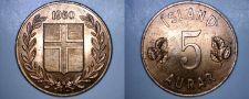 Buy 1960 Icelandic 5 Aurar World Coin - Iceland