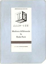 Buy New York Hyde Park Matchcover Madison & Edwards In Hyde Park ny_box4~2163