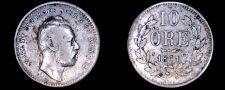 Buy 1861-ST Sweden 10 Ore World Silver Coin