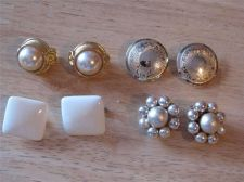 Buy 4 Pairs of Assorted Clip-on Earrings # 8