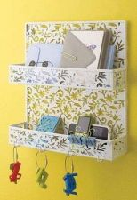 Buy Bathroom Office Holder Storage Letter Bills Mail Key Organizer White Spice Rack