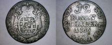 Buy 1766-IAS German States Paderborn 1/12th Thaler (3 Groschen) World Silver Coin