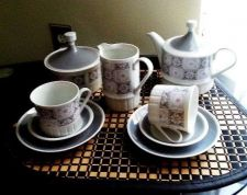 Buy VINTAGE Coffee Set 11 Pieces Geometric Patterns by KAHLA-Fine German Porcelain