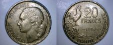 Buy 1951 French 20 Franc World Coin - France