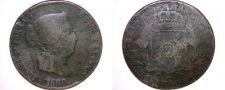 Buy 1860 Spanish 25 Centimos World Coin - Spain