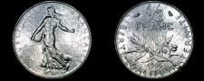 Buy 1965 French Half (1/2) Franc World Coin - France