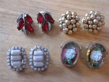 Buy 4 Pairs of Assorted Clip-on Earrings # 7