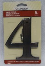 Buy House Numbers 5in Black GateHouse 2 4 5 6 7 8 9 Rust Resistant Solid Zinc