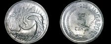 Buy 1982 Singapore 5 Cent World Coin - Snake Bird