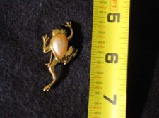 Buy Sarah Coventry Jewelry Frog Pin with Pearl #1012