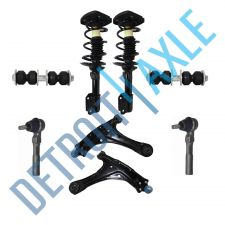Buy 2 Ready Strut + 2 Control Arm and Ball Joint + 2 Sway Bar Link + 2 Tie Rod End