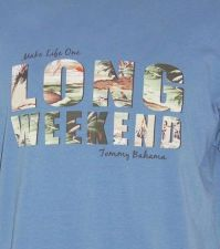 Buy TOMMY BAHAMA Island Modern Fit Make Life One Long Weekend Hawaii T-Shirt SZ L