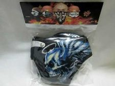 Buy MASK MASCA HALF FACE HELMET CHOPPER MASK BLUE-RED DEVIL ANTI SPRAY DUST