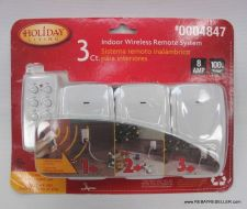 Buy new - Indoor Wireless Remote control System Holiday Living 0004847 w/3 receivers