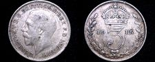 Buy 1915 Great Britain 3 Pence World Silver Coin - UK