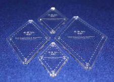 "Buy Quilt Templates-No Tip 45° Diamond 4 Pc Set- 2.5"",3.5"",4.5"",5.5"" 1/8"""