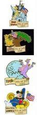 Buy Disney Tinkerbell Figment Mickey Simba July 4th pin set 4 Pin/pins
