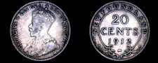 Buy 1912 Newfoundland 20 Cent World Silver Coin - Canada