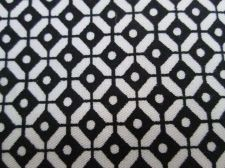 "Buy Black & White Geometric Eyes Cotton Upholstery Fabric 59"" Half meter 50 x 150 cm"