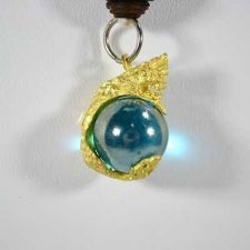 Buy NAGA BLUE EYE BALL, THAI RARE AMULET NECKLACE LP BUDDHA MAGIC LUCKY CRYSTAL