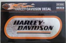 "Buy Harley-Davidson Black Lettering Chrome Background Decal 9"" NEW Father's Day Gift"