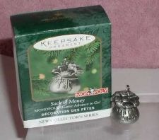 Buy Monopoly Sack of Money made of pewter dated 2000 Hallmark Keepsake ornament