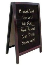 Buy Write Chalkboard Frame Menu Board Sidewalk Dry Erase Sign Folding Restaurant New
