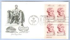 Buy New York New York First Day Cover / Commemorative Cover Lincoln Sesquicent~52